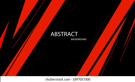 abstract line background with black and red color