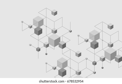 Abstract line background. Modern geometric pattern. Cell connection illustration. Square concept design. Pattern for web and print layout.