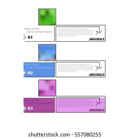 Abstract line banners design template. Can be used as Infographics, numbered banners, timeline, steps, tutorial, workflow diagrams. Illustration, Vector eps10.