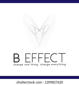 Abstract Line Butterfly Effect Logo Icon Vector Element. Butterfly logo template