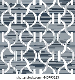Abstract line and curve trellis pattern