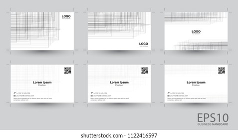 Abstract  line gray color background namecard.