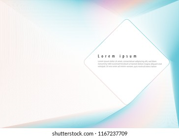 Abstract line holographic wave. Futuristic. Wonderful background in Holographic Foil. Modern surface design style. Packaging wrap paper. Banner, greetings card, poster