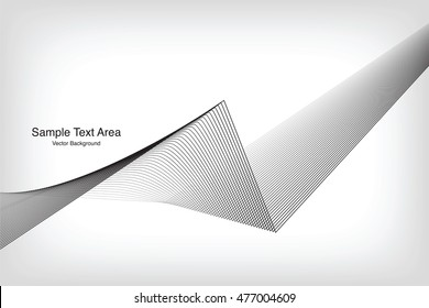 Abstract Line, On White Background With Sample Text Area