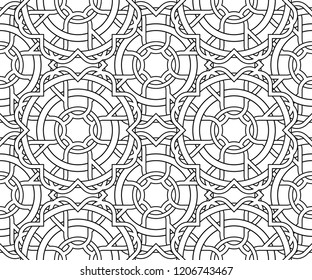 abstract line pattern white background vector