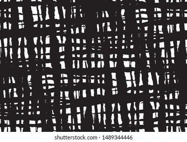 Abstract line stripe seamless for wallpaper design. Black and white monochrome background.