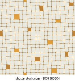 Abstract linear grid background. Vector seamless pattern.