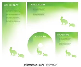 Abstract lined background with hare and tortoise and plenty of copy space