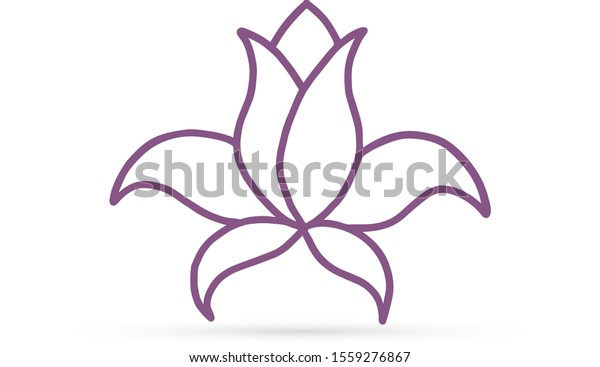 Abstract Liner Lotus Flower Yoga Symbol Stock Vector Royalty Free 1559276867
