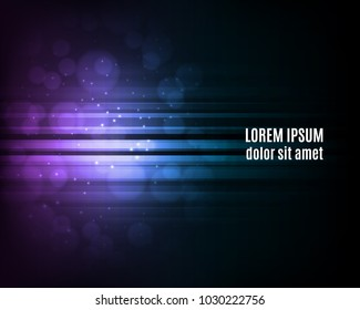 Abstract lines background with glowing elements. EPS10 vector