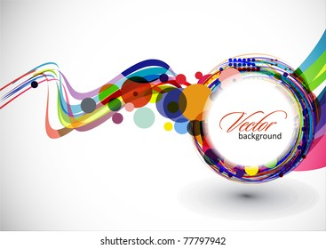 Abstract lines With circles banner. Vector illustration