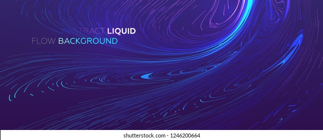 Abstract lines flow. Dynamic fluid trendy background for posters, covers and placards. Eps10 vector illustration