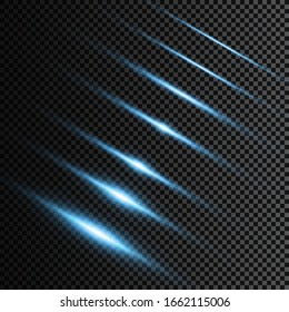 Abstract lines with glow light effect. Glow special light effect. Glowing lines on transparent background.