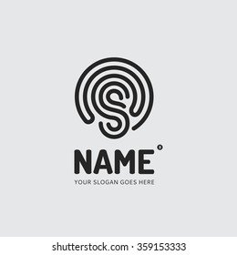 abstract lines of the letter s logo design vector template company mobile app