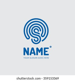 Abstract lines of the letter S, logo design vector template. Company, mobile app, symbol concept icon.