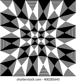 Abstract liny, checkered pattern. Indented background.