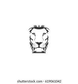 abstract lion face logo