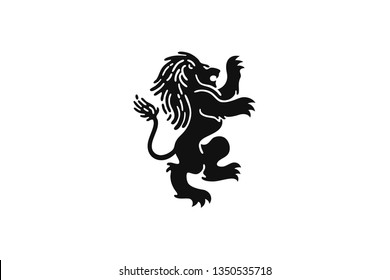 Abstract Lion Standing with Dreadlock Vector