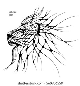 abstract lion.freehand drawing