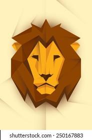 Abstract lion's head. Vector illustration.