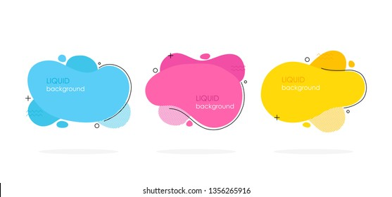 Abstract liquid shape. Fluid design. Modern vector illustration.