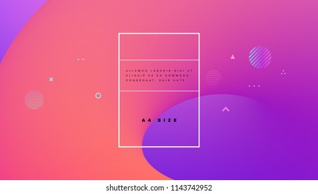 Abstract liquid trendy shapes. Minimal background. Eps10 vector illustration.