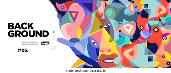 Abstract liquid and triangle shape. Fluid geometric design. Isolated gradient waves with geometric lines, dots, batik Indonesia pattern. Vector illustration.