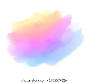 Abstract liquid vector stain, paper texture splash watercolor background.