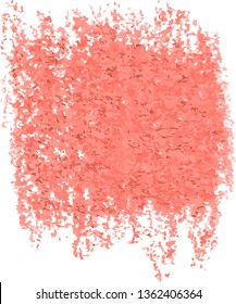 Abstract living coral watercolor hand paint texture, isolated on white background, watercolor textured backdrop, watercolor drop, traced, vector eps 10