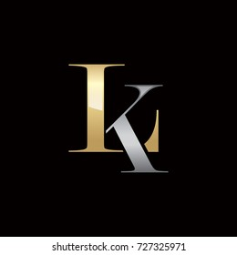 Abstract LK Initials Logo