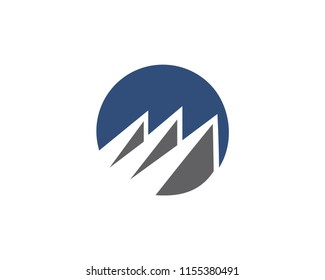 Abstract logo for business company. Corporate identity design element. Growth Logotype idea. Arrow up