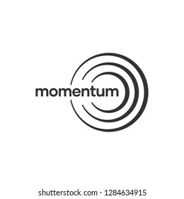 Abstract Logo Business Consulting Momentum, Impulse and Sound Wave Company