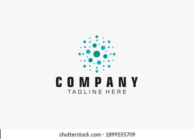 Abstract Logo. Colorful Geometric Combination. Usable for Business and Technology Logos. Flat Vector Logo Design Template Element.
