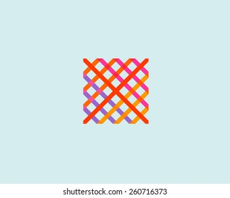 Abstract logo design. Art trend colorful symbol. Pattern vector icon