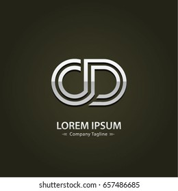 Abstract Logo Design Combinations Letter of  C and D