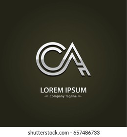 Abstract Logo Design Combinations Letter of  C and A