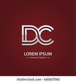 Abstract Logo Design Combinations Letter of  D and C