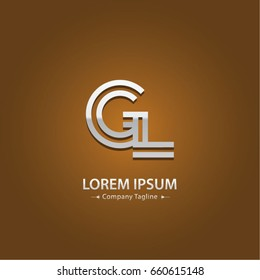 Abstract Logo Design Combinations Letter of  G and L