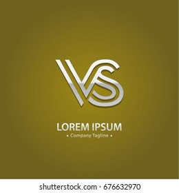 Abstract Logo Design Combinations Letter of V and S