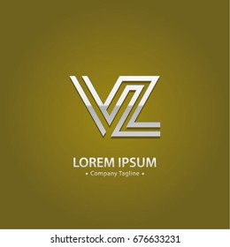 Abstract Logo Design Combinations Letter of V and Z