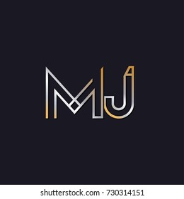 Abstract Logo Design Combinations Letter of m and j