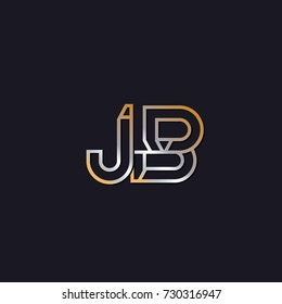 Abstract Logo Design Combinations Letter of J AND B