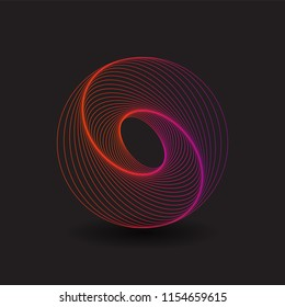 Abstract Logo Design with Spiralling Lines Pattern