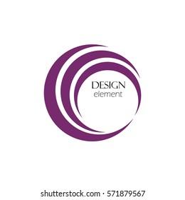 Abstract logo design template, circle