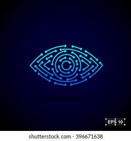 Abstract logo design template,Technology abstract dot connection cross vector logo icon circle logo