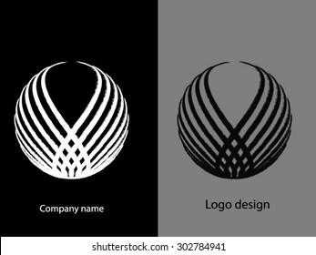 Abstract logo design.Round logo vector.