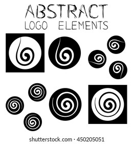 Abstract logo elements. Abstract symbol. Wind Emblem. Squirl Sign. Eps 8