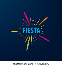 Abstract logo for the Fiesta. Vector illustration.
