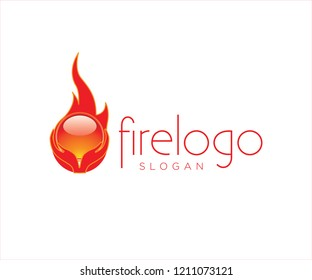 An abstract logo of fireball being hold by a pair of hands. The design looks clean and modern, you should download it at shutterstock.com.