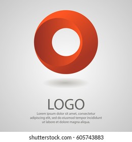 Abstract logo in the form of a circle. Corporate icon, template.